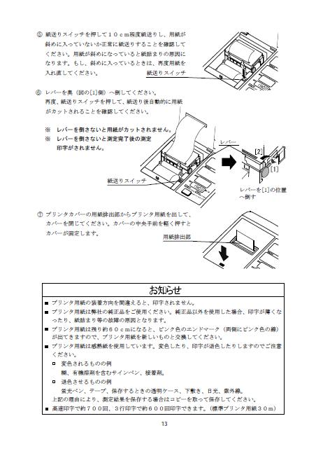 記録紙装着方法2
